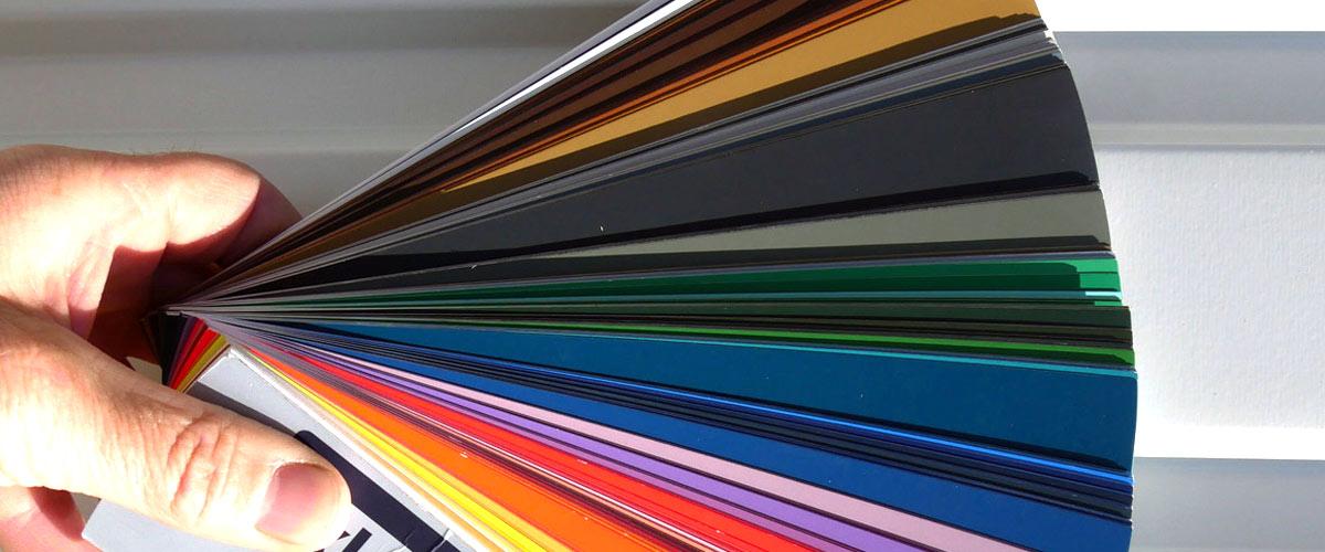 Kleuren en laklaag bouwunits